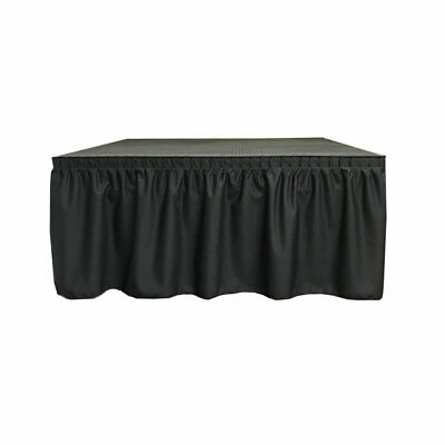 """40"""" High Best Value Black Expo Pleat Polyester Stage Skirting FR - In Stock"""