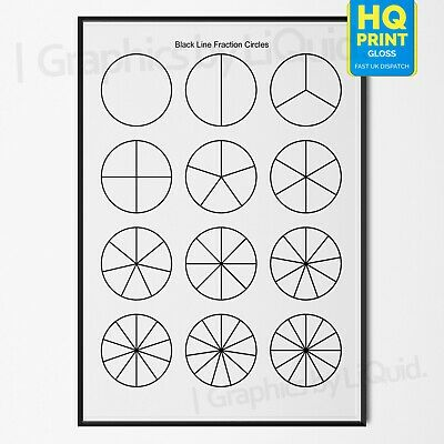 Fraction Educational Learn Children's School Kids Revision Poster | A4 A3 A2 A1