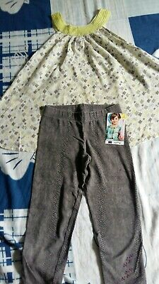 "Lot ensemble Fille 8 Ans tunique ""In extenso"" & legging ""Orchestra"""