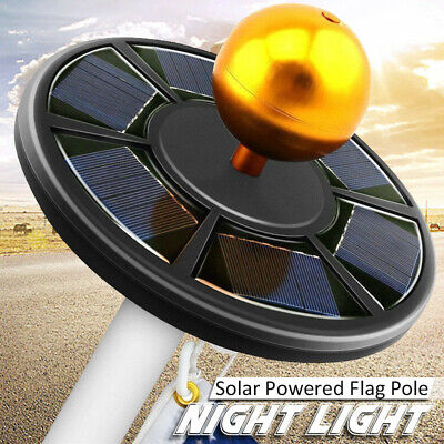 Solar Powered 46LEDs Flag Pole Light Super Bright fit for 15-25ft Flag Pole o