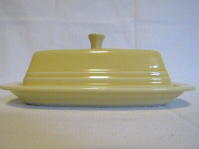 Homer Laughlin FIESTA YELLOW (CONTEMPORARY) 1/4 Lb Covered Butter Dish 988967