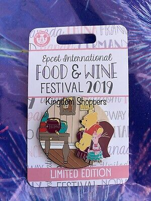 Disney EPCOT Food and Wine Festival 2019 Limited Winnie the Pooh and Piglet Pin