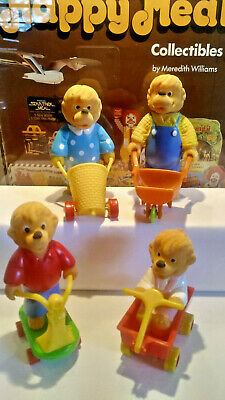 1986 BERENSTAIN BEARS - McDonald's Complete Happy Meal Set of 4