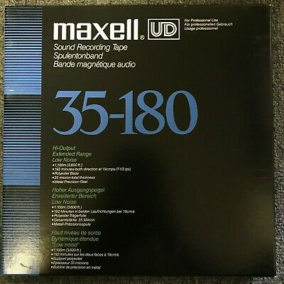 "Maxell UD 35-180 10"" Reel to Reel Tape 3600ft EXCELLENT"