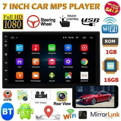 🔥7'' 2 DIN Android 8.1 1+16GB Car Stereo GPS Navi Bluetooth MP5 Player FM Radio