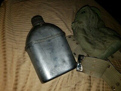 WW2 WWII US U.S. Canteen,Vollrath 1944,Army,Military,USMC,Original,Steel,Dated