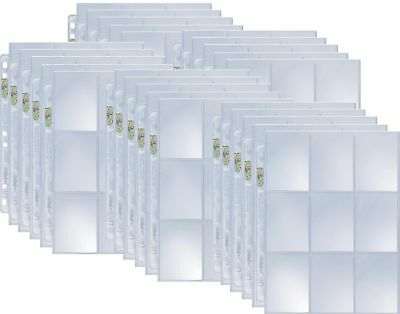 25 Ultra pro 9-Pocket Silver Series Pages Folder for 3-Ring Album - Magic