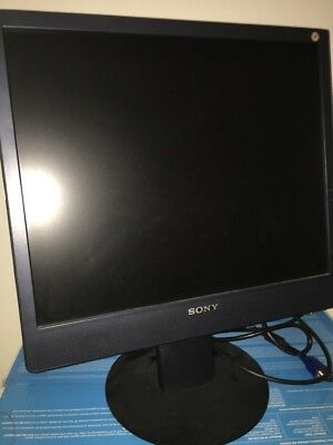 Sony Monitor Display With Speaker And Headphone Input