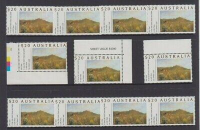 Stamps Australia $20 high value painting x 11 MUH face value $220 sheet value