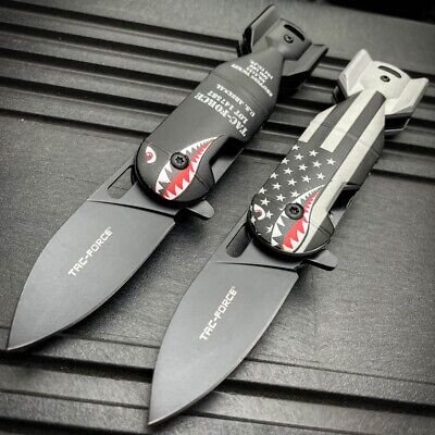 """6.25"""" TAC-FORCE Military Bomb Tactical Spring Open Assisted Folding Pocket Knife"""
