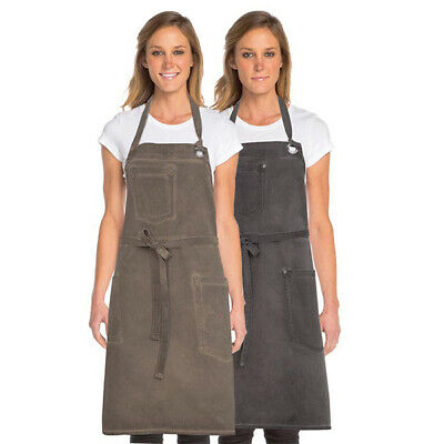 Bib Apron Urban Chefworks Dorset Contemporary Barista Cafe Bar Brown OR Grey