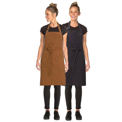 Bib Apron Urban Chefworks Rockford Contemporary Barista Cafe Bar Brown OR Grey