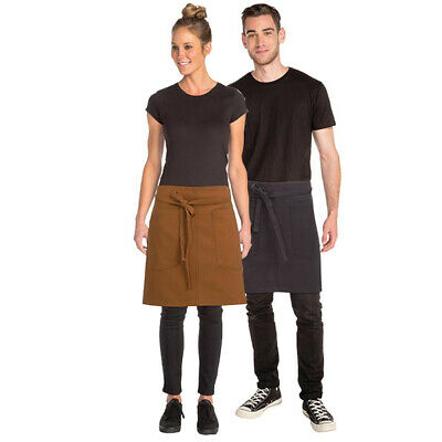 Half Apron Urban Chefworks Rockford Contemporary Barista Cafe Bar Brown OR Grey