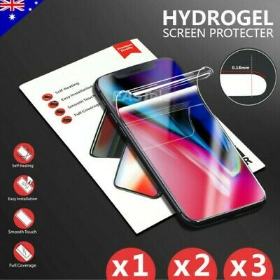 3x HYDROGEL AQUA FLEX Screen Protector Apple iPhone XS Max XR X 8 7 6s Plus Lot