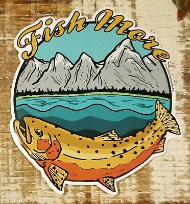 "RAINBOW TROUT Sticker Decal fly fishing Kype 4/"" x 4 1//2/"" glossy weather proof"