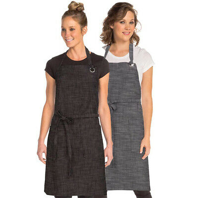 Bib Apron Urban Chefworks Corvallis Contemporary Barista Cafe Bar Black OR Grey