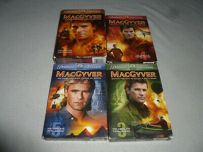 Macgyver Boxed Dvd Lot Tv Series Complete Season 1 3 4 5 Paramount Television >>