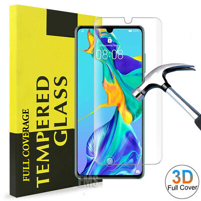 For Huawei P30 Pro Lite Mate 20 + 5D Full Cover Tempered Glass Screen Protector