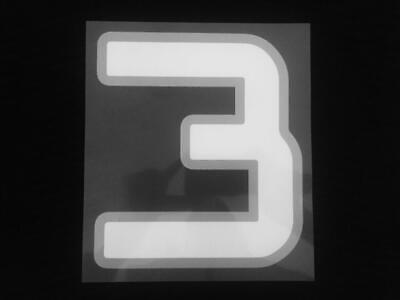2011 White & Silver Numbers New Zealand All Blacks World Cup Shirt Jersey