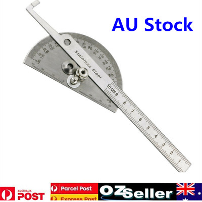 Stainless Steel Round Angle Finder Ruler 180° Protractor Craftsman Ruler Hot AU