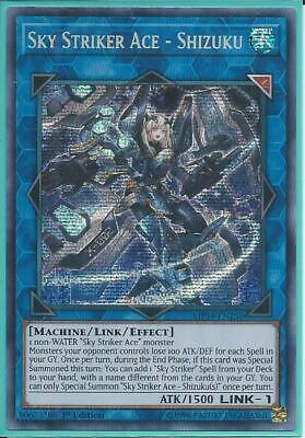Yugioh MP19-EN258 Sky Striker Ace - Shizuku Prismatic Secret Rare NM 1st Edition