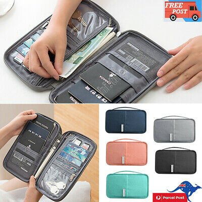 Waterproof Passport Holder Travel Document Wallet RFID Bag Family Organizer AU