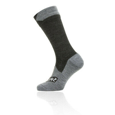 SealSkinz Hombre Sealskinz Impermeable Todo Weather Mid Length Calcetines Gris