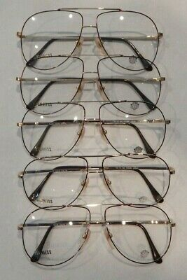 Lot Elite Colby Gold//Tort 56//18 Eyeglass Frame New Old Stock #S20 Vintage 5 Pc