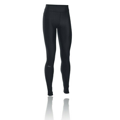 Under Armour Womens HeatGear Running Tights Bottoms Pants Trousers Black Sports