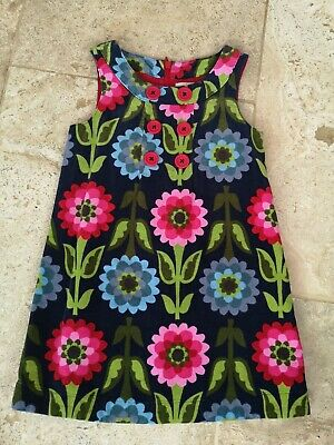 Immaculate Cordaroy Boden Flower Dress age 4-5