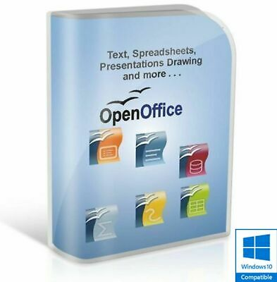 Open OFFICE 2019 PRO Edition Word Processor Microsoft Windows (Digital Download)