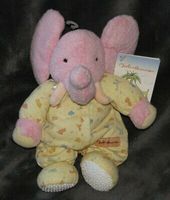 Carters John Lennon Pink Elephant Plush Stuffed Rattle Baby Toy Real Love Lovey