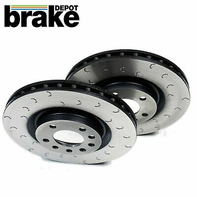 Citroen Saxo 1.1 ATE Drilled Grooved Brake Discs Front