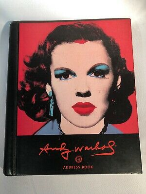 JUDY GARLAND Andy Warhol Address Book Pre Owned  (1994) NO WRITING CLEAN