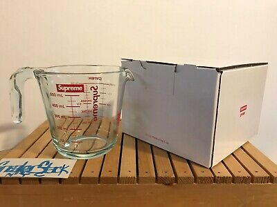 FW19 Supreme Pyrex 2-Cup Measuring Cup Clear Drop 1 Brand New Complete In Box