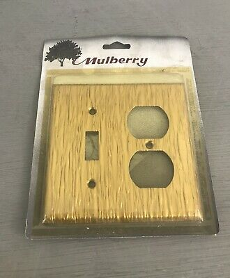 NEW Mulberry Wall Switch Plate Cover Gold Textured Light Outlet Toggle Duplex