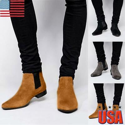 Men Non-slip Rain Boots Waterproof Low Heel Slip On Rubber Shoes PVC Work Bootie