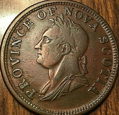 1832 NOVA SCOTIA ONE PENNY TOKEN IMITATION - Nicer example!