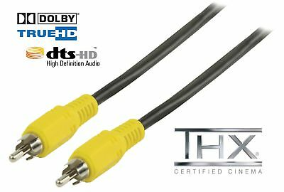 CABLE COAXIAL AUDIO NUMERIQUE DIGITAL 5 m mètres RCA CINCH SPDIF 75 Ohm