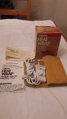 Vintage Gillette Flexible Electric Heating Pad Wrap Model 2820 Tested
