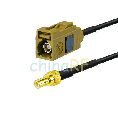 """Fakra Female K to SMB Male Extension Cable 6"""" for XM Sirius Coax Satellite Radio"""