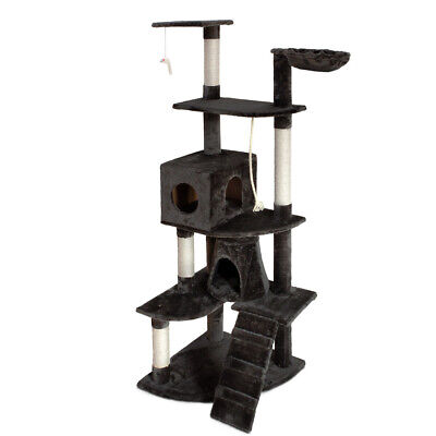 Cat Scratching Post Tree Gym House Scratcher Pole Furniture Toy Giant 193cm @TOP