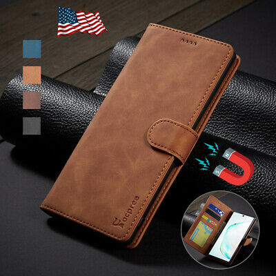 For Samsung Galaxy Note 10 Plus 5G Case Magnetic Flip Wallet Stand Leather Cover