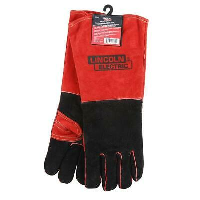 LINCOLN ELECTRIC KH643 Welding Gloves,Red//Black,Leather,PR