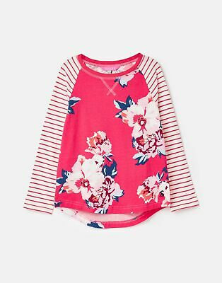 Joules 207093 Baseball Style Top in PINK FLORAL