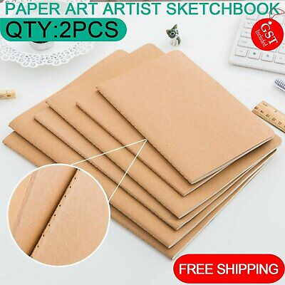 2Pcs A5/A4/B5 Paper Art Artist Sketchbook Sketch Pad Drawing Painting Book lined