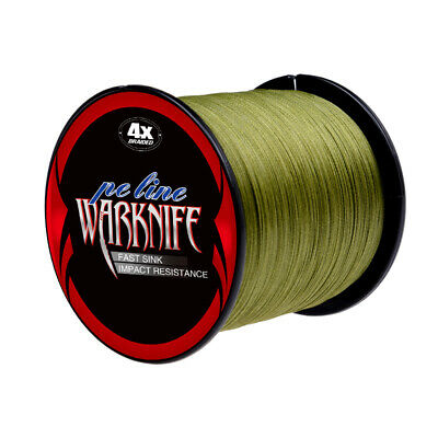Super Strong Japanese PE Braided Fishing Line 500M Army Green Braid Line 6-100LB
