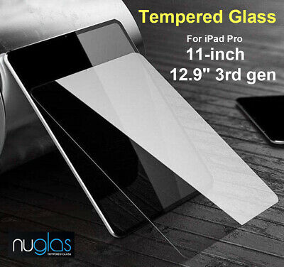 Nuglas Tempered Glass Screen Protector for iPad Pro 11 inch / 12.9 inch 3rd Gen