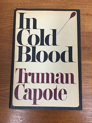 Truman Capote, IN COLD BLOOD, 1st Edition 3rd Printing, 1965
