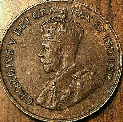1920 CANADA SMALL CENT PENNY - Excellent example!